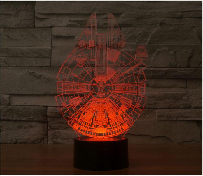 Star Wars BB8 droid 3D Bulbing Свет Игрушки Новый 7 Цвет изменение Зрительных иллюзий СВЕТОДИОДНЫЕ Лампы Декор Дарт Вейдер Тысячелетний Сокол Игрушка