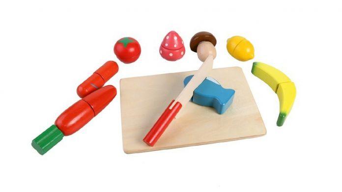 Дерева детей Кухонный гарнитур игрушки Деревянные Питание Фрукты Овощной Резки Притворяться, Приготовление Пищи для Детей Детские Образование Игрушки Лучший Подарок DIY
