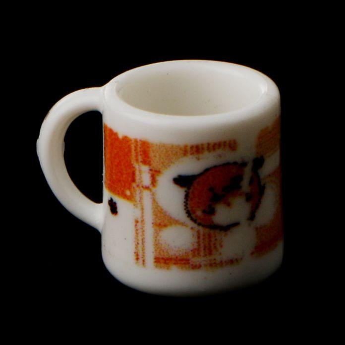 Симпатичные 1:12 Кукольный Дом Кукольный Дом Миниатюрные Красочные Чашки, Кружки комплект Чашка Столовая Паб Бар Аксессуар 2 шт. Кухня мебель