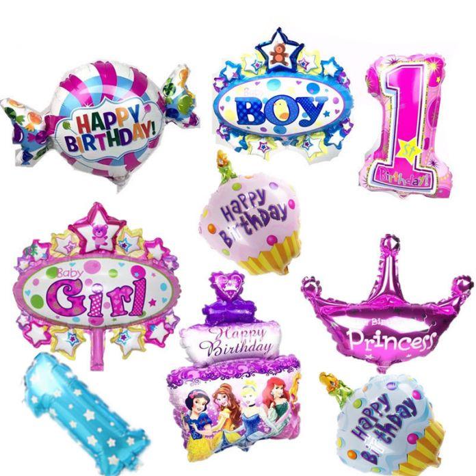 Дети день рождения воздушные шары Мини Корона количество Воздушные Шары Мальчик С Днем рождения конфеты принцесса воздушный шар 40*30 см (не включить стандер)
