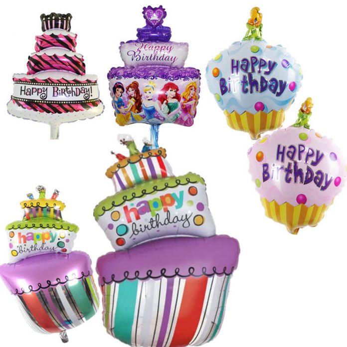 Фольгированные Шары С Днем Рождения партия Украшения дети воздушные Шары надувные Баллоны прекрасный Торт Ко Дню Рождения Партии шары