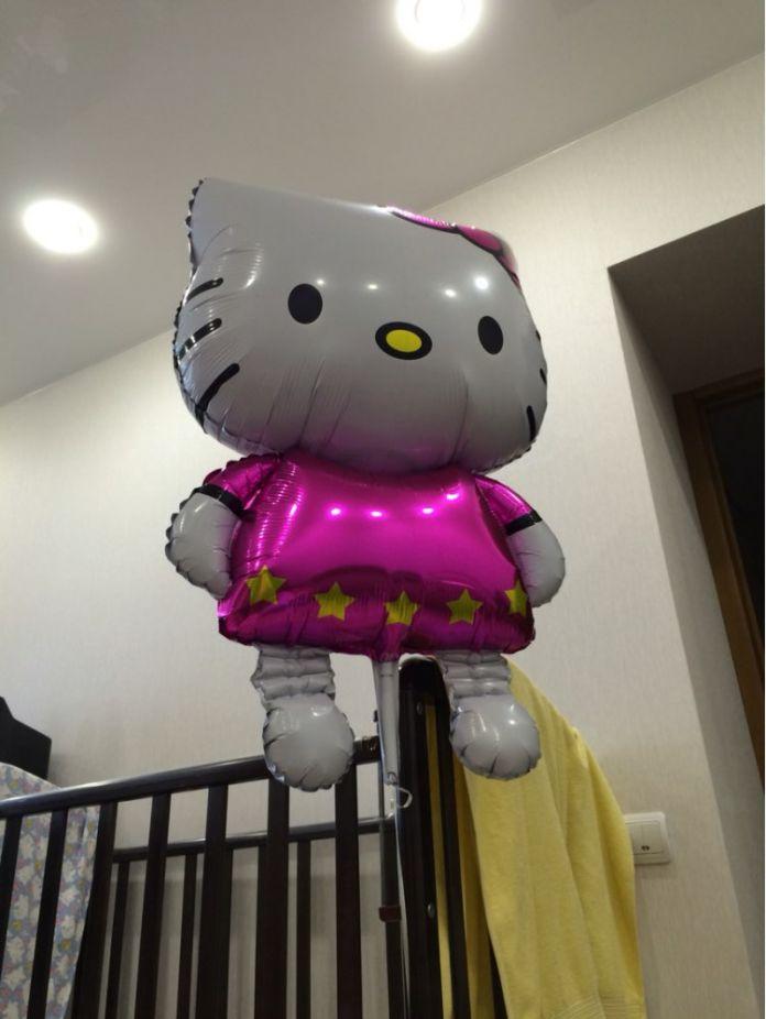 Большой размер 116*65 см Hello Kitty Cat фольгированных шаров мультфильм день рождения декор свадьба надувные воздушные шары Классический игрушки