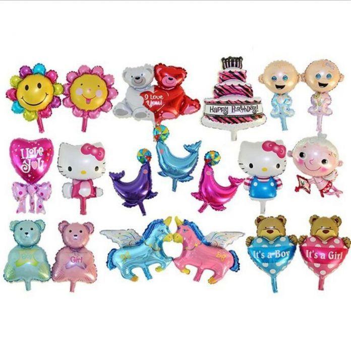 19 тип мультфильм KT воздушные шары медведь лошадь животных воздушный шар сердце подсолнечника свободе воздушный шар 40*30 см партии мультфильм украшения