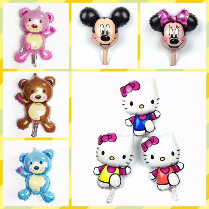 Мини Минни Микки Hello Kitty глава шар партия фольга baby boy девушка воздушные шары День Рождения Украшения