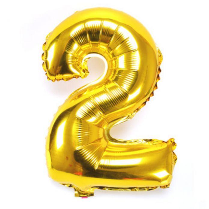 1 шт. 16 ''Гелиевые Шары Воздушный Шар Фольги Серебро/Золото Номер 2 Воздушные Шары День Рождения Новый Год Свадебные Украшения воздушный шар