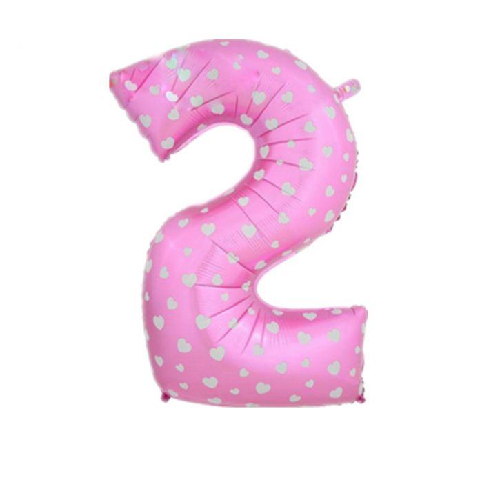 Номер 2 фольга воздушные шары дети день рождения баннер свадьба 40 дюймов розовый и синий цифра украшения гелиевые шары классический игрушки