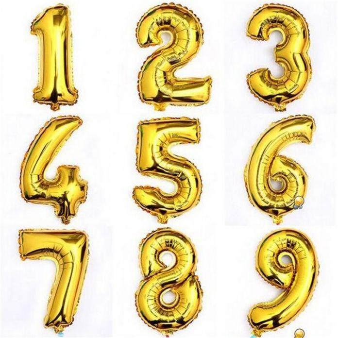 Бесплатная Доставка 16 inch Золото И Серебро Количество Фольгированные Шары Поплавок Воздушные Шары Свадьба Украшения Шары для Детей Надувные Игрушки