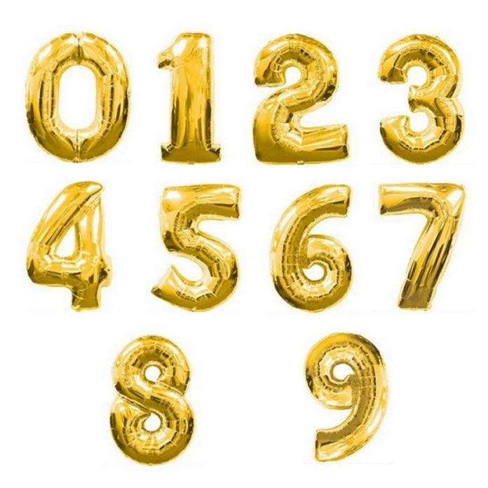 1 ШТ. Большой 32 inch Золото Количество Воздушный Шар Большой Алюминиевой Фольги Гигантские Воздушные Шары День Рождения Свадьба Баллон Decora Празднование Поставки