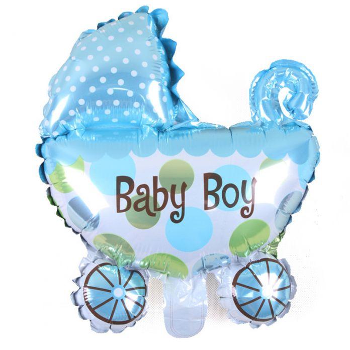 Детские Коляски Фольгированные Шары Baby Shower Детские Коляски Мальчик и Девочка Воздушный Шар Надувные Игрушки Дети День Рождения Украшения