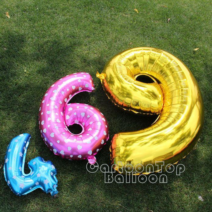 """Большой 40 """"дюймовый Золото/серебряная фольга количество воздушные шары для празднования дня рождения цифры 0-9 гелий баллон globos юбилей воздушный шар"""