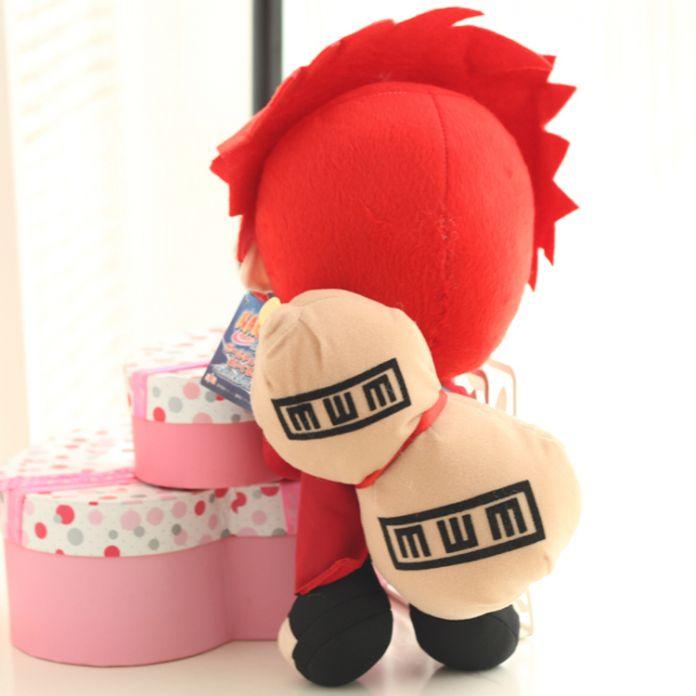 Бесплатная Доставка Японский Аниме Мультфильм Наруто Гаара Плюшевые Игрушки Куклы мягкие Мягкие Игрушки Плюшевые Куклы Рис Игрушки для Детей Подарки 30 см