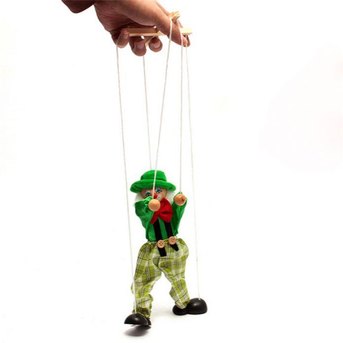Тянуть Строки Детские Игрушки Кукольный Клоун Деревянный Марионетка Игрушки Совместная Деятельность Куклы Старинные Смешно Традиции Классические Игрушки