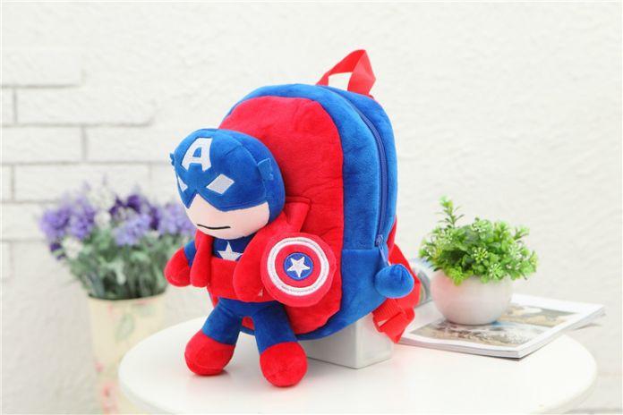 3D Мстители Плюшевые Рюкзаки Игрушки для детей 2016 Новый Ironman Супермен Человек-Паук Бэтмен кукла плюшевые школьный mochila