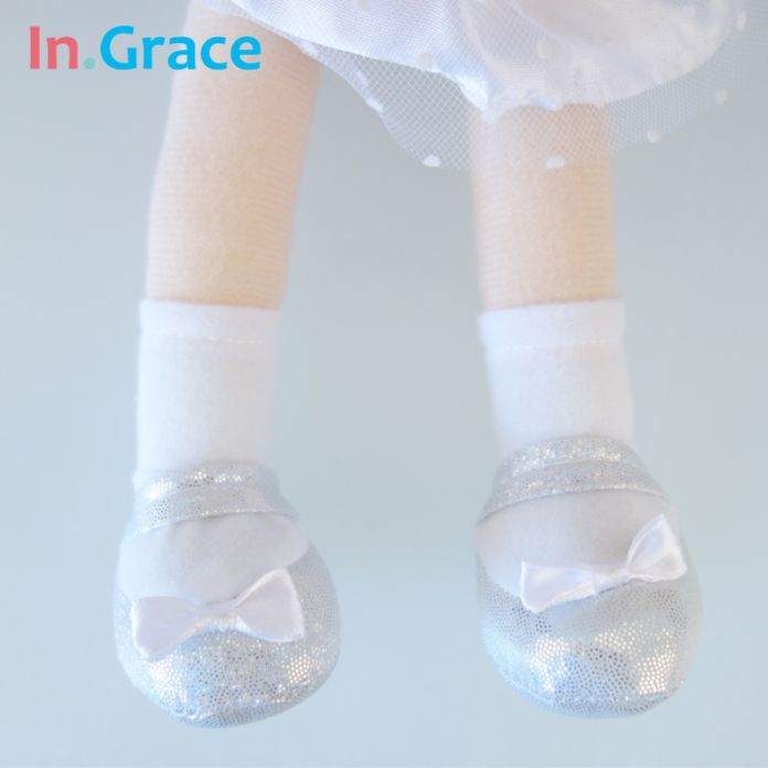 В. Грейс nwe балерина кукла белый АНГЕЛ куклы с блестящими крыльями фаршированные ткани куклы для девочек лучшие подарки 14 дюймов высокой качество