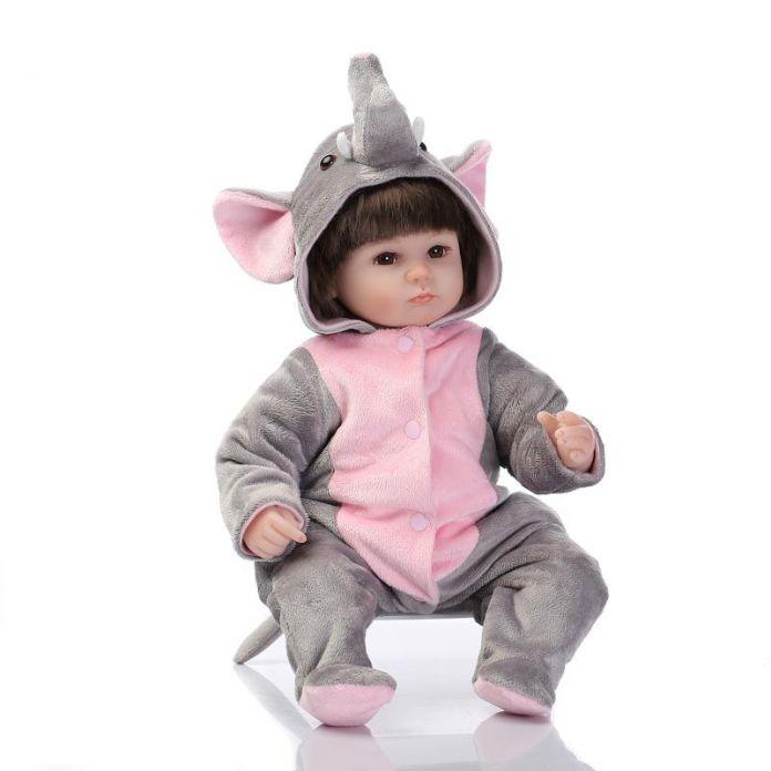 40 см Мягкие силиконовые возрождается ребенка куклы игрушки играть дома игрушки девушка кукла ручной работы реалистичные модные подарки для девочек куклы коллекция