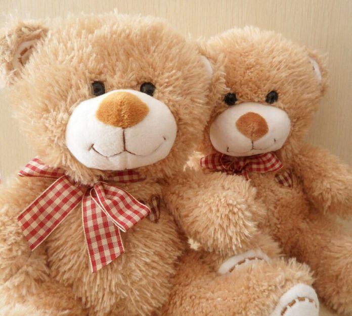 Новый 2016 плюшевые игрушки запись звука милый плюшевый медведь с галстуком