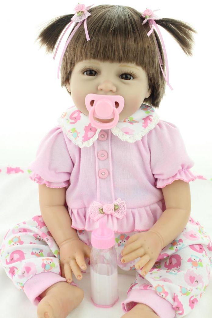 22 дюймов 55 СМ Возрождается ребенка силиконовые виниловые куклы Реалистичные ручной работы реалистичные прекрасный Подарок для ребенка Девушка Brinquedods