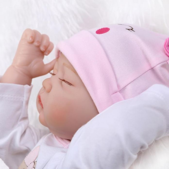 22 Дюймов 55 см силиконовые куклы-реборн детей реального спальный возрождается ребенка bonecas детские игрушки brinquedos menina