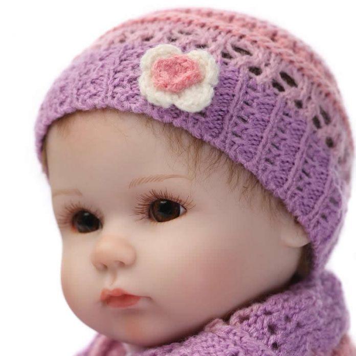 Коллекционные 17 дюймов возрождается младенцы реалистичные мягкий силиконовый новорожденных куклы реального прикосновения девушка куклы дети подарок на день рождения