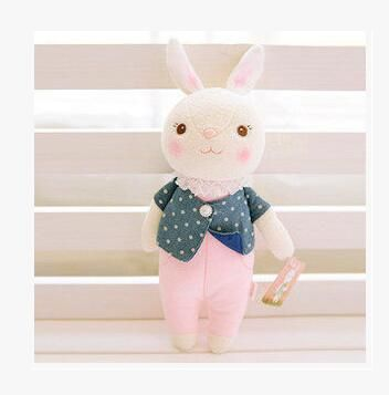 35 см Подлинная Metoo Игрушки Тирамису Кроликов Супер Качество Симпатичные Кролики Чучела Животных Префект Подарки Для Девочек И Детей