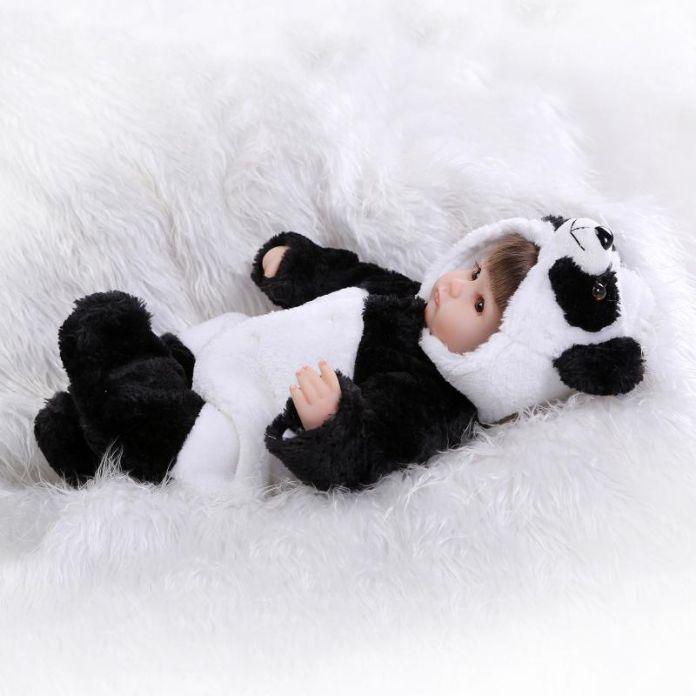 42 см Мягкие силиконовые возрождается ребенка куклы игрушки играть дома ручной работы реалистичные panda возрождается девушки куклы подарки для девочек куклы коллекция