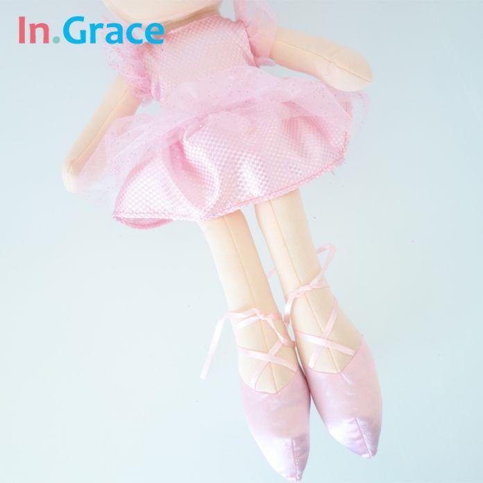 В. Грейс мило голубые глаза принцесса кукла для девочек каваи розовый фантазия балерина куклы для девочек подарок на день рождения 40 см небольшой плюшевые игрушки