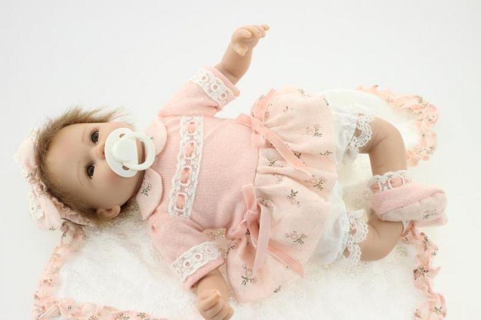 Симпатичные куклы-Реборн Мягкий Силиконовый 18 Дюймов Новорожденного Куклы Коллекционные Детей Для Детей Подарок На День Рождения