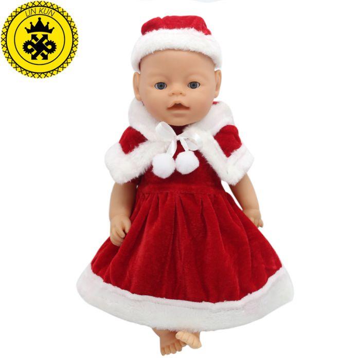 43 см Baby Born Zapf Красный Рождество Платье Костюм Куклы Аксессуары Досуг Детской Одежды Рождество Счастливый Подарок Девушке Повезло 030