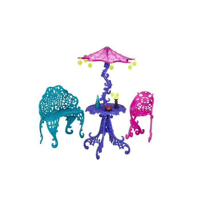 Один Комплект Куклы Мебель Путешествия Scaris Кафе Стул и Корзину, новые Стили Девушки Пластмассовые Игрушки Для Monster High Куклы для Девочек Лучший Подарок