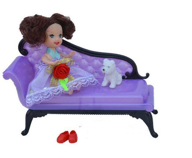 Кукла Аксессуары Мини Кукольный Домик Мебель Цветок Диван Диван Для Барби Дома Игрушки Девушка Рождественский Подарок