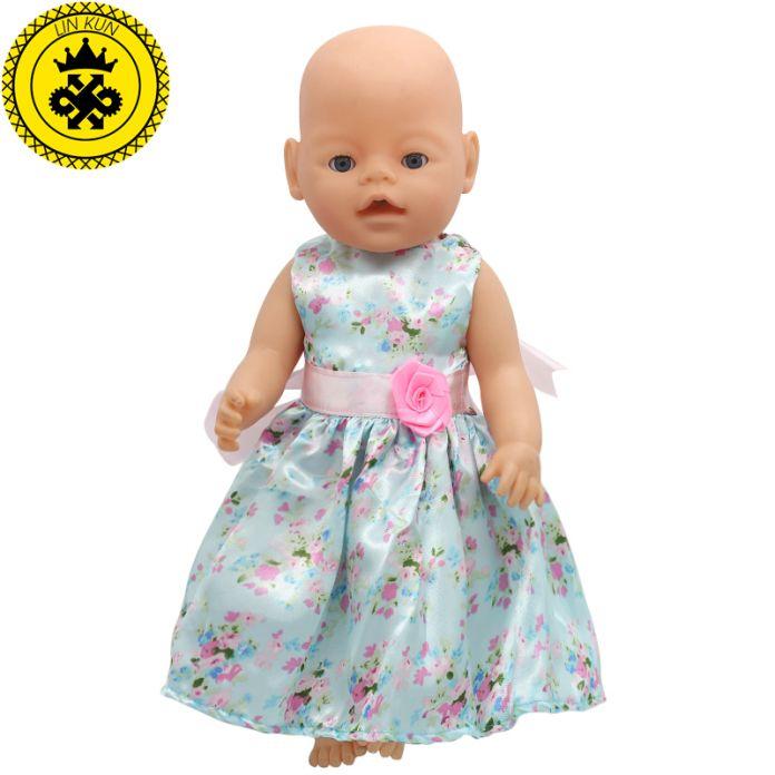 Маленький Цветок Платье Костюм Куклы Подходит 43 см Ребенок Родился Zapf Кукла Одежда Детская Лучший Подарок На День Рождения Куклы Модные Аксессуары 075