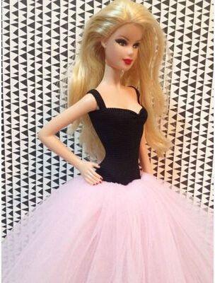 2016 Новое Прибытие Мода Вечернее Платье Для Куклы Барби, DIY подарки для девочек игрушки, DIY свадебное платье для куклы барби