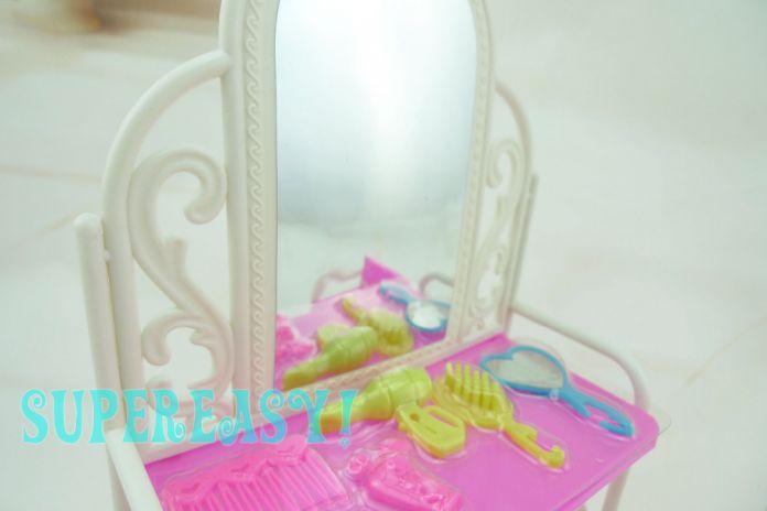 """1 компл. пластиковые комод столы и стулья дом мебель игрушка аксессуары для барби Kurhn 11.5 """" 12 """" кукла малыш рождественский подарок притворись играть"""