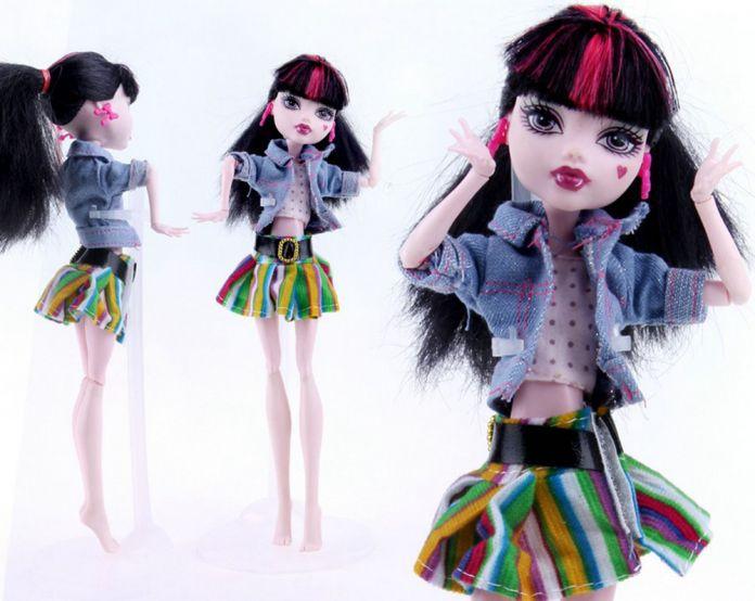 Н. К. Один Комплект Новое Прибытие Handmade Корковых Одежда и Спортивная Мода платье Для Monster High Куклы Для BJD Куклы Лучший Подарок 05A