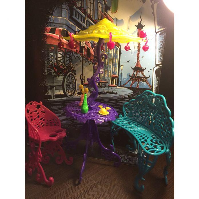 Новое Прибытие Один Комплект Куклы Мебель Путешествия Scaris Кафе Стул Для Monster High Куклы для Девочек Лучший Подарок