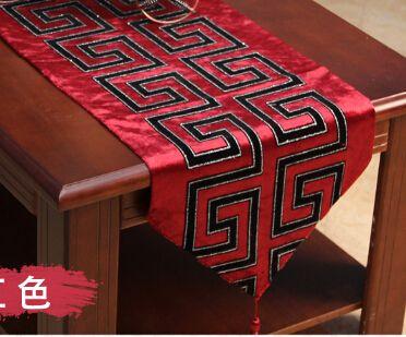 Классический китайский стиль свадебные украшения современного бегун стол хлопок Chemin де стол для свадьбы ну вечеринку вышивка скатерть