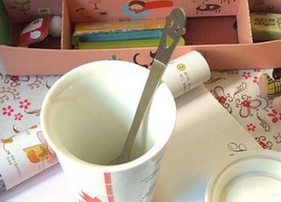 Бесплатная доставка из нержавеющей стали ложка смайлик счастливые мороженое кофейной ложкой перемешивание #6106
