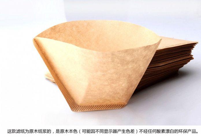 100 pcs / коробка капельного кофеварка фильтр V60 для 2 - 4 порции дерево масса 102 стиль