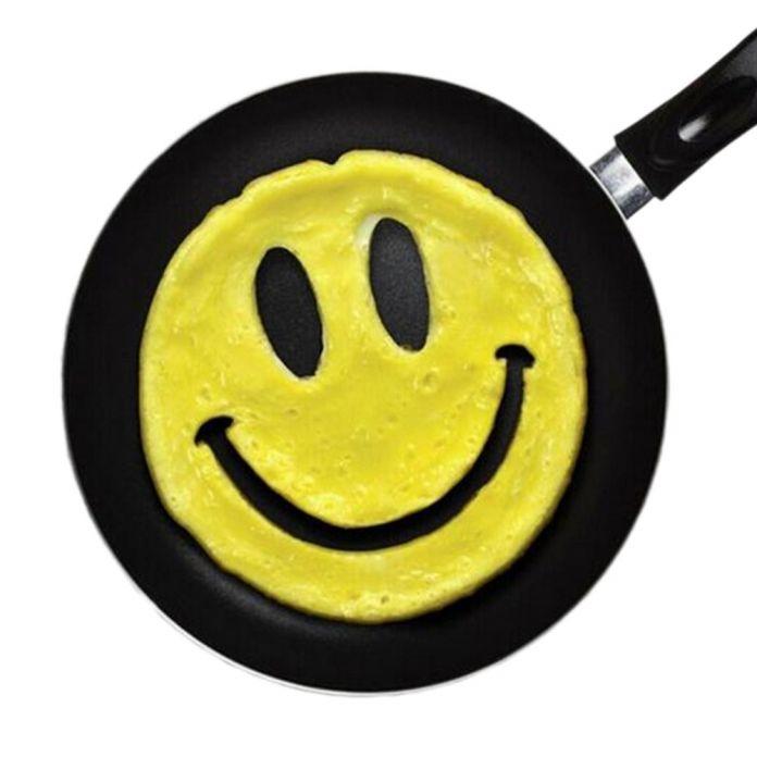 Новый Горячий Завтрак Милый Силиконовые Смайлик Жареное Яйцо Плесень Блин Яйцо Кольца Shaper Забавный Творческая Кухня Инструмент