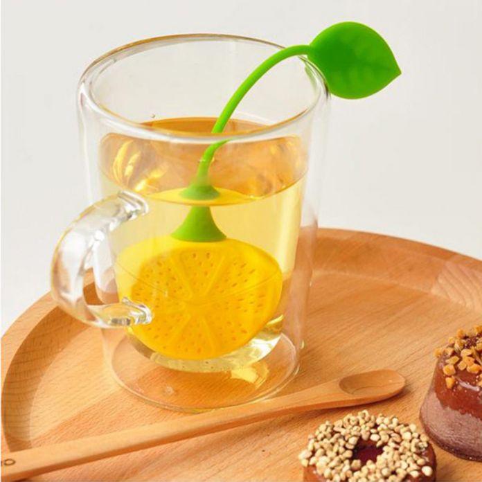 Горячая распродажа симпатичные лимон силиконовые пьющий чайник чашка рассыпной чай фильтр травяные специи для заварки фильтра инструменты