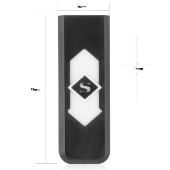 1 шт. Новый USB Электронная Аккумуляторная Батарея Непламено Сигары Сигареты Электронная Зажигалка Белый Нет Газа бездымного горячий продавать