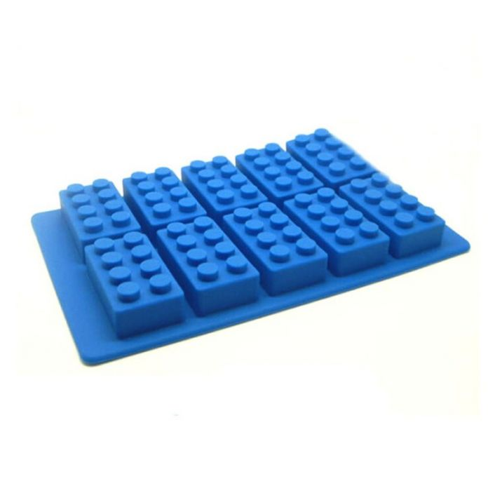 Конфеты кубик льда торт формы силиконовые десерт желе Lego кирпича плесень лоток