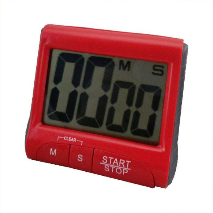 Популярный Красный Большой ЖК-Цифровой Кухонный Таймер Обратного Отсчета До Часы Громкий Сигнал Тревоги