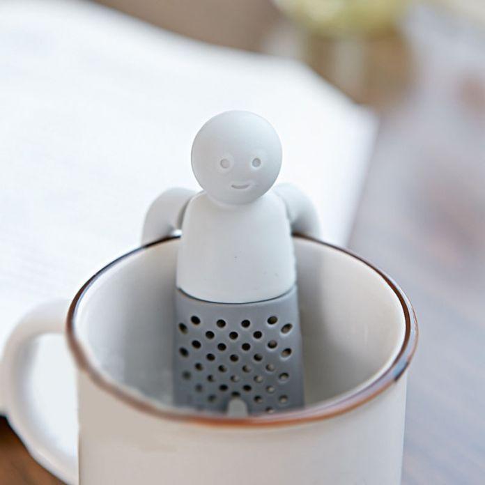 Чайник Для Заварки Чая Ситечко Силикона Человек Форме Травяной Фильтр Диффузор Чайник Для Заварки Кофеварка Высокое Качество Нового