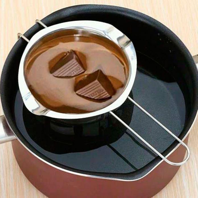 Горячие продажи Одного Горшок DIY Шоколад Чайник Шоколад Плавильный котел Сыр Фондю Чайник из нержавеющей стали Миску Отопление A0616