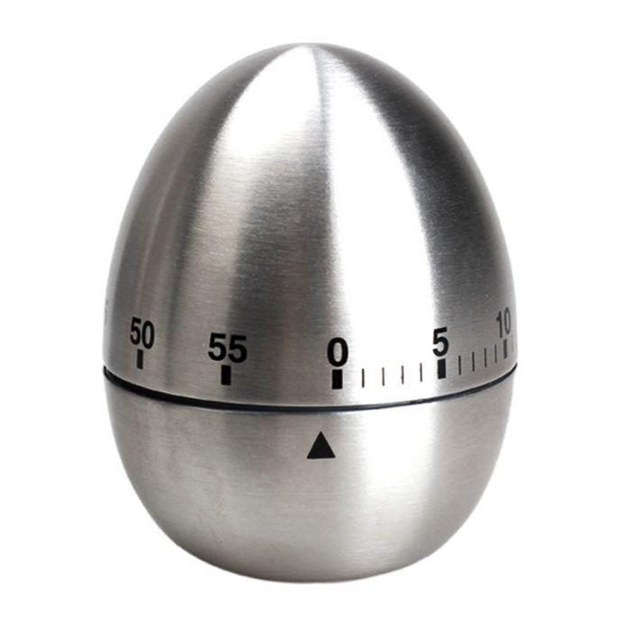 ASLT Нержавеющей Стали Приготовления Инструмент Механическая Яйцо Кухня Кухня Таймер Сигнализация 60 Минут Кухонный Таймер Яйца для Приготовления Пищи