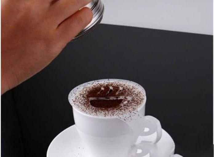 Нержавеющая шоколад шейкер экскаватор сахарной пудрой какао порошок мука кофе подрассевная # 52615