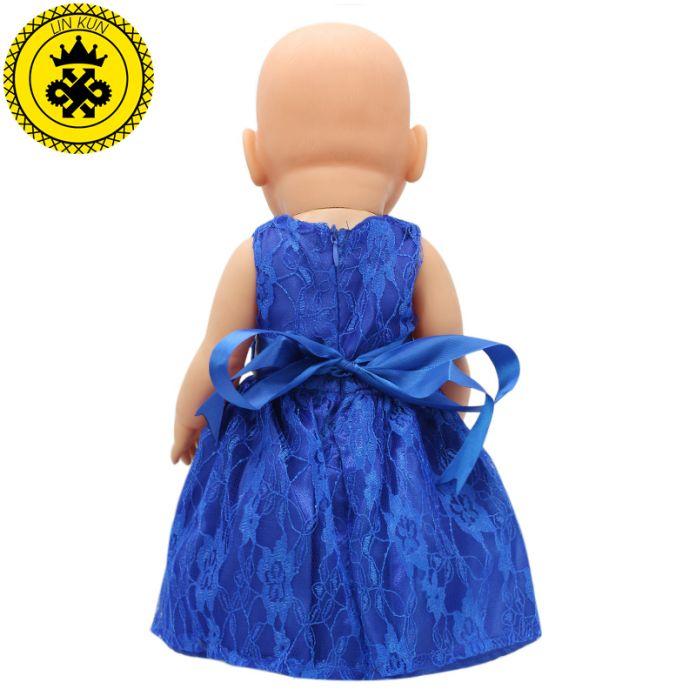 Синий Кукла Baby Born Одежда подходит 43 см Baby Born Zapf кукла 17 дюймовые Куклы Аксессуары Ручной Работы Ребенка Подарок Любовь Надежда Счастье 006