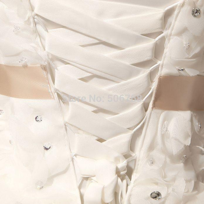 2016 новое прибытие бальное платье короткое кружева возлюбленной блестками цветок элегантный женщины формальные свадебные платья размер 2 4 8 12 Белое платье свадебные платья