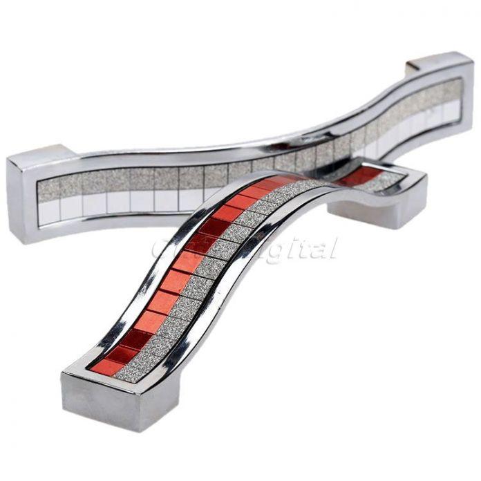 96 мм/128 мм/160 мм Мебель Ручки Кристалл Алмаза Кабинет Ручки Современный Шкаф Шкаф Кухонный Шкаф Тянуть ручки для Ящиков